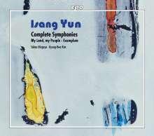 Isang Yun (1917-1995): Symphonien Nr.1-5, 4 CDs