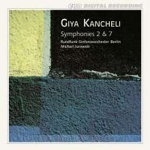 Giya Kancheli (1935-2019): Symphonien Nr.2 & 7, CD