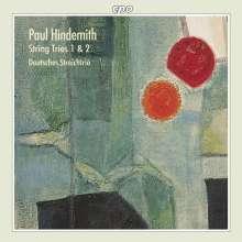 Paul Hindemith (1895-1963): Streichtrios Nr.1 & 2 (1924 & 1933), CD