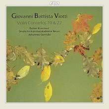 Giovanni Battista Viotti (1755-1824): Violinkonzerte Nr.19 & 22, CD