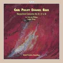Carl Philipp Emanuel Bach (1714-1788): Cembalokonzerte Wq 30,37,38, CD