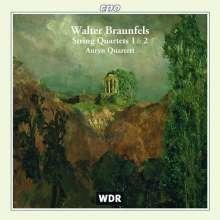 Walter Braunfels (1882-1954): Streichquartette Nr.1 & 2 (opp.60 & 61), CD