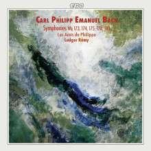 Carl Philipp Emanuel Bach (1714-1788): Symphonien Wq.173-175,178,180, CD