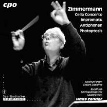 "Bernd Alois Zimmermann (1918-1970): Cellokonzert (en forme de ""pas de trois""), CD"