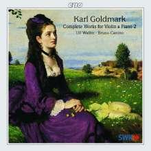 Karl Goldmark (1830-1915): Sämtliche Werke für Violine & Klavier Vol.2, CD