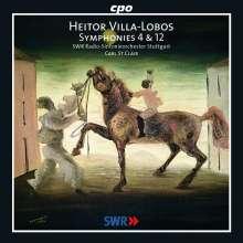 Heitor Villa-Lobos (1887-1959): Symphonien Nr.4 & 12, CD