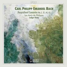 Carl Philipp Emanuel Bach (1714-1788): Cembalokonzerte Wq.3,32,44,45, CD