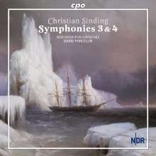 Christian Sinding (1856-1941): Symphonien Nr.3 & 4, CD
