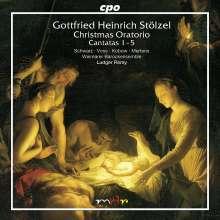 Gottfried Heinrich Stölzel (1690-1749): Weihnachtsoratorium (Kantaten 1-5), CD