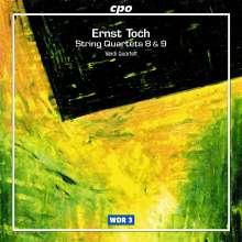 Ernst Toch (1887-1964): Streichquartette Nr.8 & 9, CD