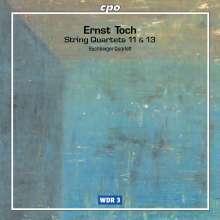 Ernst Toch (1887-1964): Streichquartette Nr.11 & 13, CD