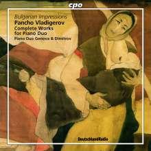 Pancho Vladigerov (1899-1978): Bulgarische Impressionen (Werke für 2 Klaviere), CD