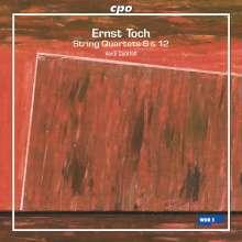 Ernst Toch (1887-1964): Streichquartette Nr.6 & 12, CD