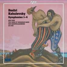 Dimitri Kabalewsky (1904-1987): Symphonien Nr.1-4, 2 CDs