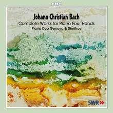 Johann Christian Bach (1735-1782): Sämtliche Werke für 2 Klaviere & zu 4 Händen, CD