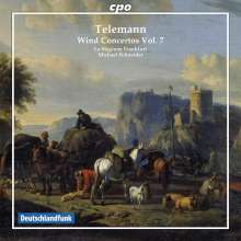 Georg Philipp Telemann (1681-1767): Bläserkonzerte Vol.7, CD