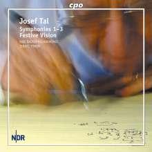 Josef Tal (1910-2008): Symphonien Nr.1-3, CD