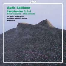 Aulis Sallinen (geb. 1935): Symphonien Nr.2 & 4, CD