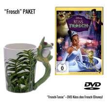 Küss den Frosch (Geschenkset mit 3D-Tasse), 1 DVD und 1 Merchandise