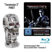 Terminator 2: Tag der Abrechnung (Geschenkset mit Aufbewahrungsbox »T-800 Metall-Head«) (Ultra HD Blu-ray & 3D Blu-ray im Steelbook), 1 Blu-ray Disc und 1 Merchandise