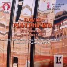 David Matthews (geb. 1943): Symphonien Nr.2 & 6, CD