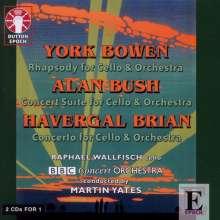 York Bowen (1884-1961): Rhapsodie für Cello & Orchester op.74, 2 CDs