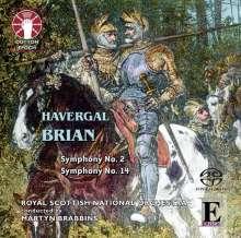Havergal Brian (1876-1972): Symphonien Nr.2 & 14, SACD