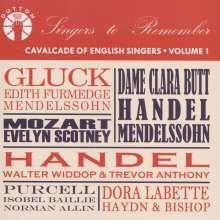 Cavalcade of English Singers Vol.1, CD