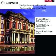 Christoph Graupner (1683-1760): Instrumental- & Vokalmusik Vol.1, CD