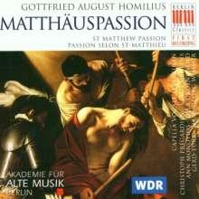 Gottfried August Homilius (1714-1785): Matthäus-Passion, 2 CDs