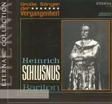 Heinrich Schlusnus singt Arien, CD