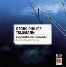 Georg Philipp Telemann (1681-1767): Telemann - Ausgewählte Meisterwerke, 10 CDs