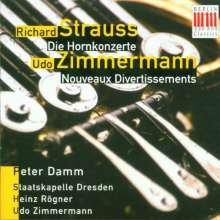 Udo Zimmermann (geb. 1943): Noveaux Divertissements f.Horn & Orch., CD