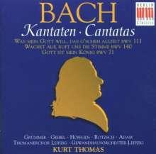 Johann Sebastian Bach (1685-1750): Kantaten BWV 71,111,140, CD