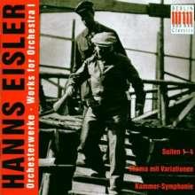 Hanns Eisler (1898-1962): Orchesterwerke Vol.1, CD
