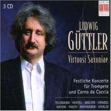 L.Güttler - Festliche Konzerte f.Trompete & Corno da Caccia, 3 CDs