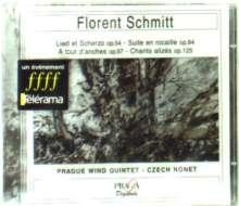 Florent Schmitt (1870-1958): Chants Alizes op.125 für Bläserquintett, CD