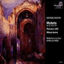 Felix Mendelssohn Bartholdy (1809-1847): Missa breve, CD