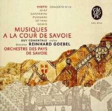 Musiques a la Cour de Savoie, CD