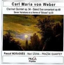 Carl Maria von Weber (1786-1826): Klarinettenquintett op.34, CD