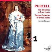 Henry Purcell (1659-1695): Sonatas of 3 Parts (Triosonaten) Nr.1-12, 2 CDs