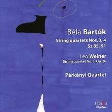 Bela Bartok (1881-1945): Streichquartette Nr.3 & 4, Super Audio CD