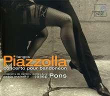 Astor Piazzolla (1921-1992): Konzert für Bandoneon,Percussion & Streicher, CD