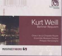 Kurt Weill (1900-1950): Berliner Requiem, CD