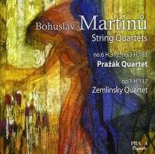 Bohuslav Martinu (1890-1959): Streichquartette Nr.1,3,6, SACD