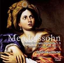 Felix Mendelssohn Bartholdy (1809-1847): Streichquartette Nr.3 & 4 (op.44 Nr.1 & 2), Super Audio CD