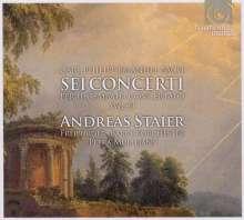 Carl Philipp Emanuel Bach (1714-1788): Hamburger Cembalokonzerte Wq.43 Nr.1-6, 2 CDs