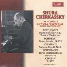 Shura Cherkassky - The Complete UK World Record Club Solo Recordings, 2 CDs