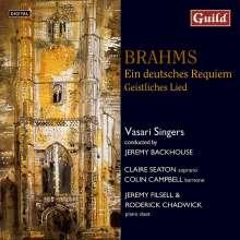 Johannes Brahms (1833-1897): Ein Deutsches Requiem op.45 (Londoner Version), CD