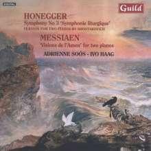 """Arthur Honegger (1892-1955): Symphonie Nr.3 """"Liturgique"""" für 2 Klaviere, CD"""